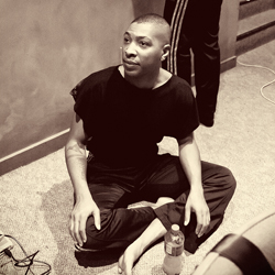Kyle Abraham during a rehearsal break at KST :: Nov 17,2011